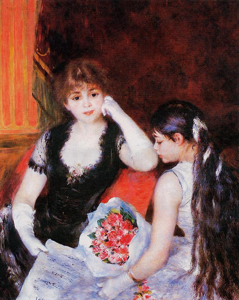 At the Concert by Pierre Auguste Renoir, 1880