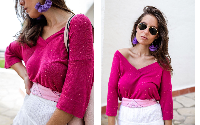 05_Camiseta_rosa_rüga_falda_blanca_look_verano_theguestgirl_laura_influencer_barcelona_españa_spain_ootd_inspo_paisley_look