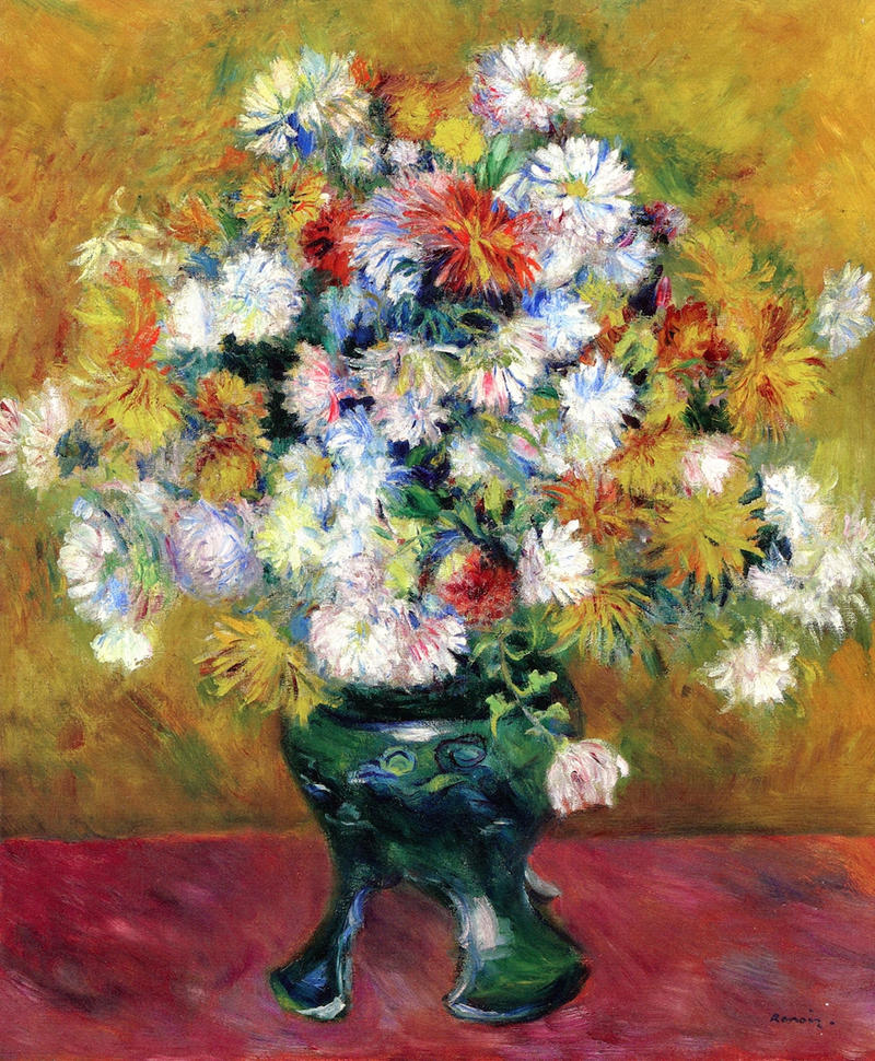 Chrysanthemums by Pierre Auguste Renoir, 1878