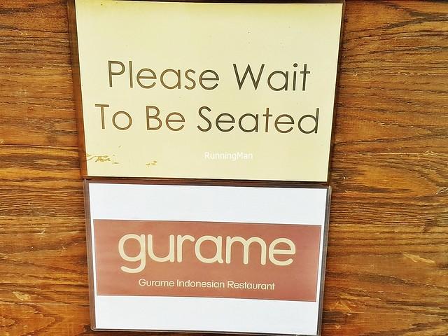 Gurame Indonesian Restaurant Signage