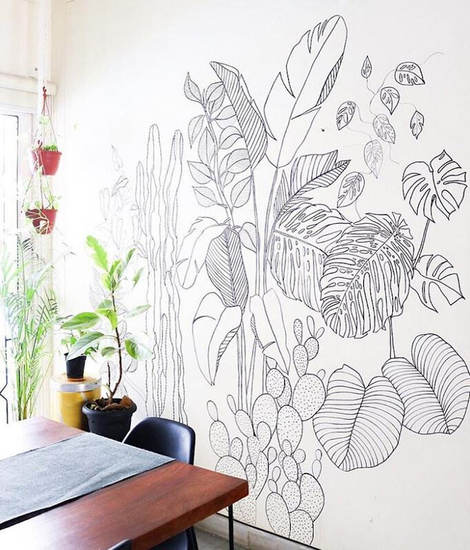 wall mural foliage