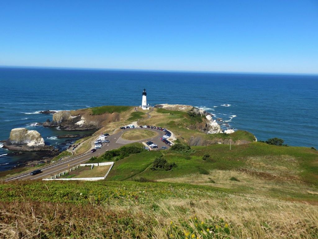 Yaquina Head Lighthouse from the Salal Hill Trail