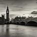 Ben & bridge in black & white