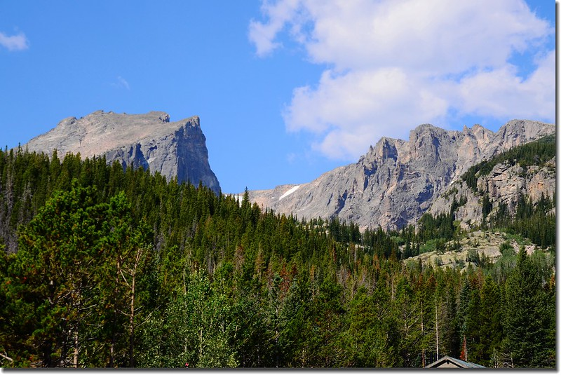 Hallett Peak & Flattop Mountain from Bear Lake parking lot