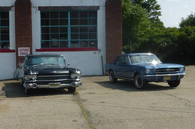 1959 Cadillac Fleetwood Sixty Special Sedan & 1965 Ford Mustang