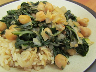 Lemony Pan-Fried Chickpeas with Chard