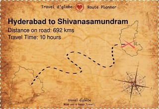 Map from Hyderabad to Shivanasamundram