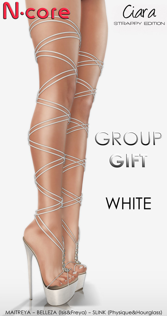 "N-core CIARA ""Strappy Edition"" (White) GROUP GIFT!"
