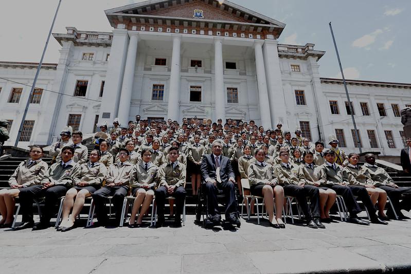 Inicio de clases Régimen Sierra Amazonía 2017-2018 y Entrega de la Repotenciación del Colegio Nacional Mejía