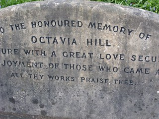 Grave of National Trust founder at Ide Hill