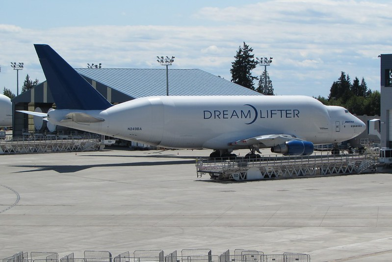 The Dreamlifter at Boeing Field - there were two the day we were there, and we were informed that it was very rare to have two there