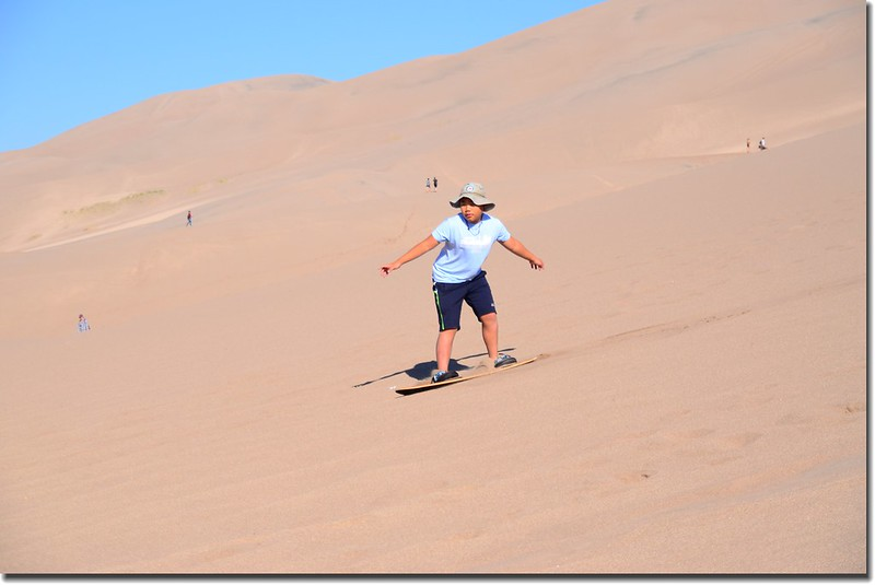 Sledding at Great Sand Dunes  (1)