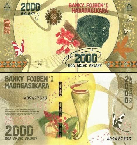 2000 Ariary Madagaskar 2017, P101