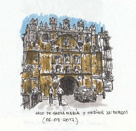 Burgos. Arco de Santa María