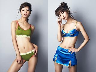 Super Groupies x 快打旋風【春麗&倩咪女性內衣套組】ストリートファイター 春麗、キャミィ モデル ランジェリーセット