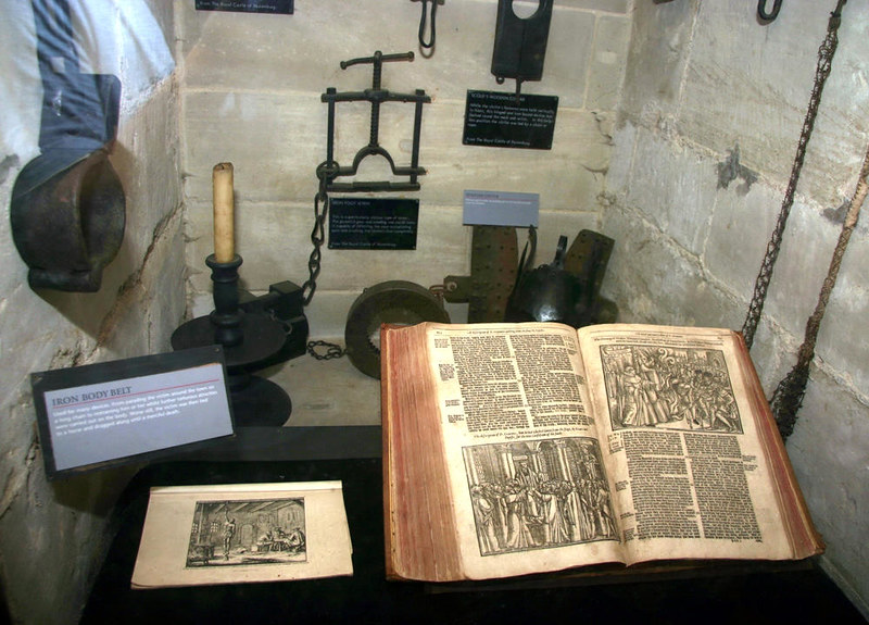 Various implements of medieval torture. Credit Paul Reynolds, flickr