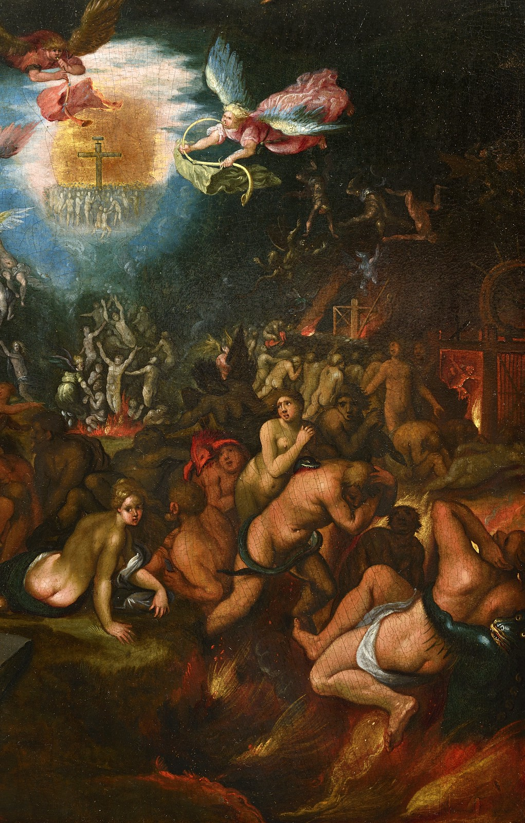 Frans Francken the Younger - The Last  Judgement, detail, after 1619