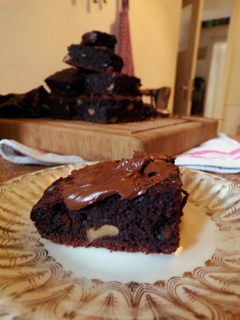 Chocolate Zucchini Walnut Cake | Hedgefairy