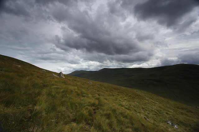Ominous clouds on Meall a' Phubuill