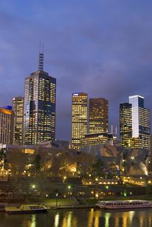 Cityscape at night Melbourne, Australia