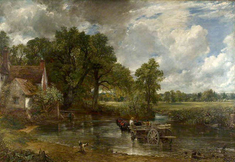 The Hay Wain by John Constable, 1821