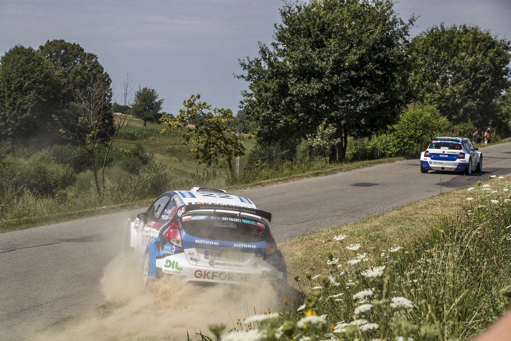 22 SZEJA Jarosław (CZE) SZEJA Marcin (POL) Ford Fiesta R5 action during the 2017 European Rally Championship Rally Rzeszow in Poland from August 3 to 5 - Photo Gregory Lenormand / DPPI