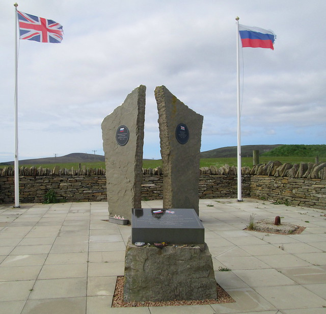 Arctic Convoy Memorial, Lyness, Hoy, Orkney Plaza