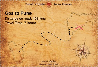Map from Goa to Pune