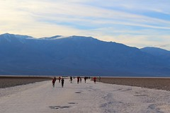Badwater Salt Flats Trail and Tourists