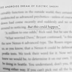 Yes indeed... #WhatImReading #doandroidsdreamofelectricsheep #bladerunner