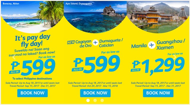 Payday Fly Day Cebu Pacific Air Promo
