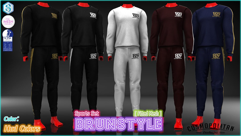 [BrunStyle] - Sports Set (Fitted Mesh) + HUD Textures - SecondLifeHub.com
