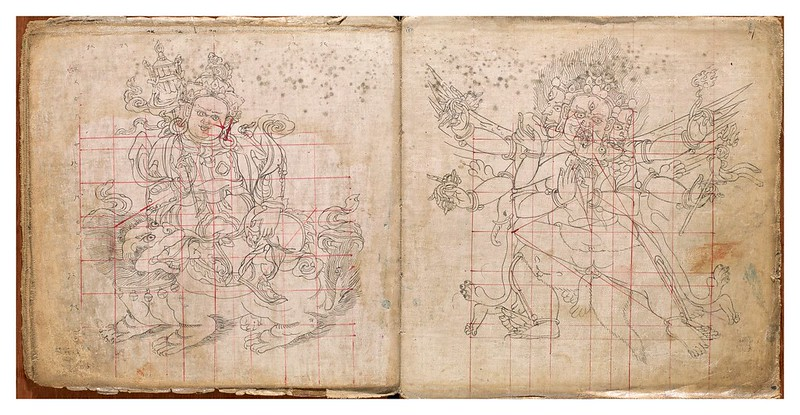 006-Tibetan pattern book of proportions- Getty Digital Collections