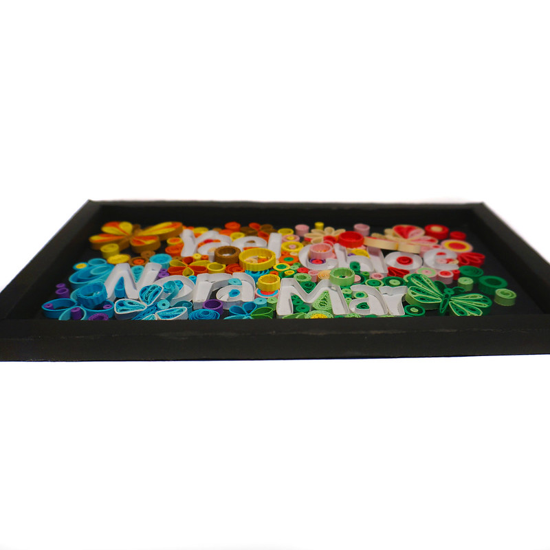 Quilling Name Frame Butterflies Front