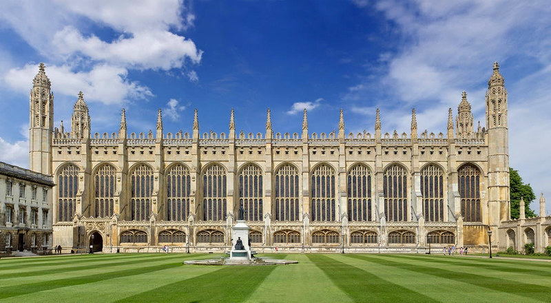 Side view of Kings College Chapel from inside the college. Credit Dmitry Tonkonog