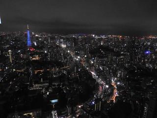六本木ヒルズから(ジブリ展)04 青い東京タワー