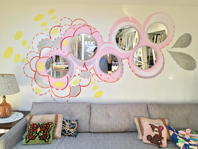 Wall doodle with mirrors... doing a little interior decorating.