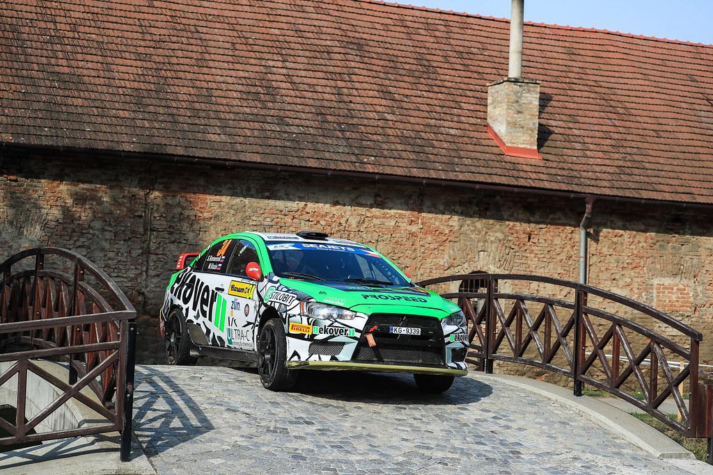 34 REMENNIK Sergei (RUS) ROZIN Mark (RUS) Mitsubishi Lancer Evo X action during the 2017 European Rally Championship ERC Barum rally,  from August 25 to 27, at Zlin, Czech Republic - Photo Jorge Cunha / DPPI