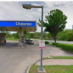 Chevron gas station 4646 broadway blvd 1.3 miles to the north of Garland dentist La Prada Family Dentistry