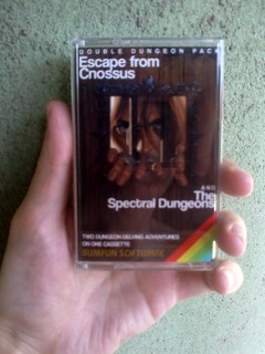 My ZX Spectrum games on tape!