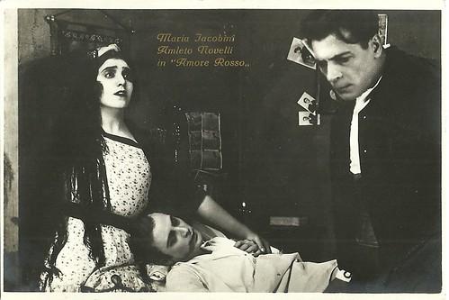 Maria Jacobini amd Amleto Novelli in Amore rosso (1921)