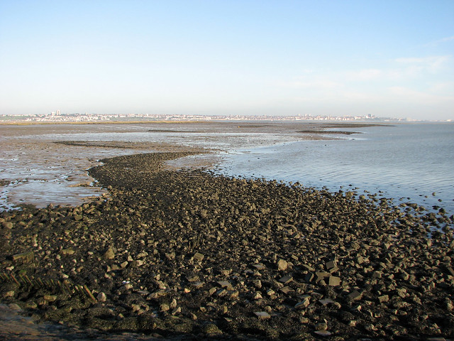 The south eastern corner of Canvey Island
