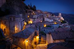 Hilltown of Bova at Night