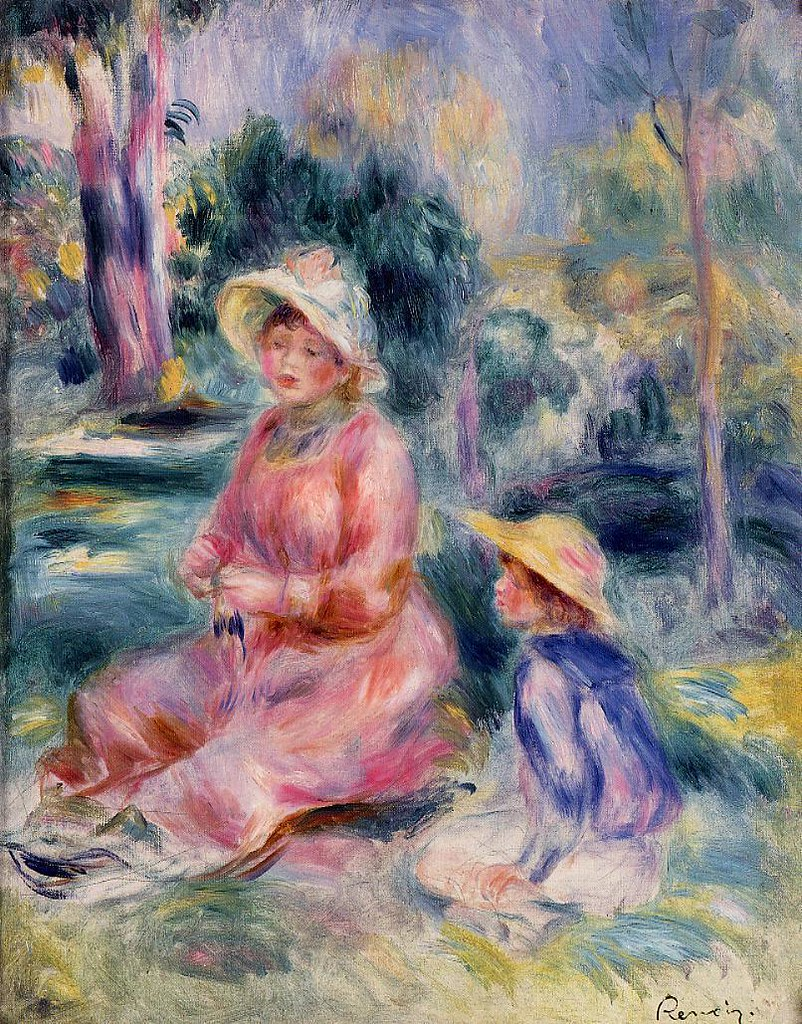 Madame Renoir and Her Son Pierre by Pierre Auguste Renoir, 1890