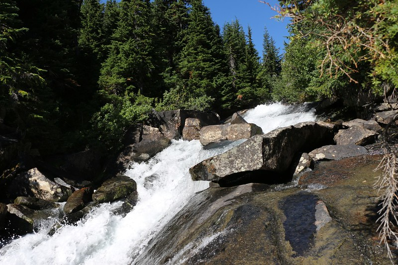 The upper section of the waterfall on Railroad Creek below Lyman Lake