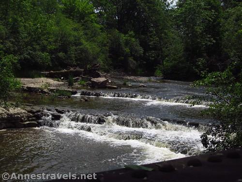 Waterfalls along the Ontario Pathways Rail Trail near Phelps Junction, New York