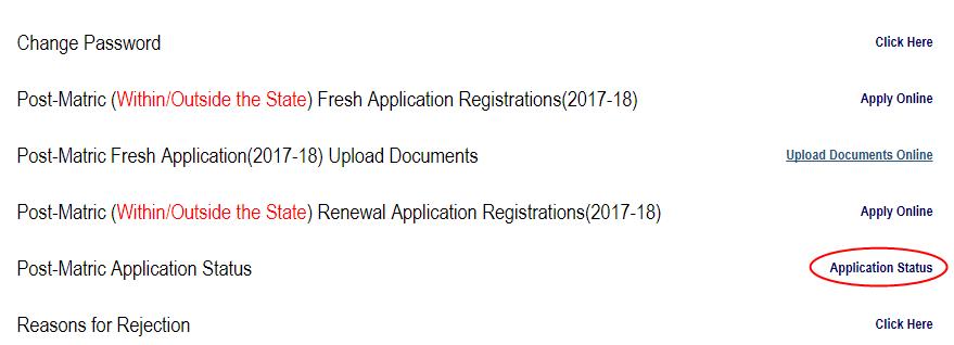e Kalyan Application Status