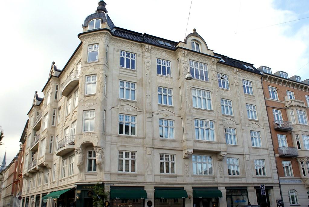 Immeuble Art nouveau dans le quartier de Frederiksberg à Copenhague.