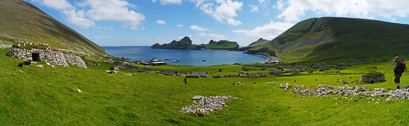 Village Bay panorama, Hirta, St Kilda