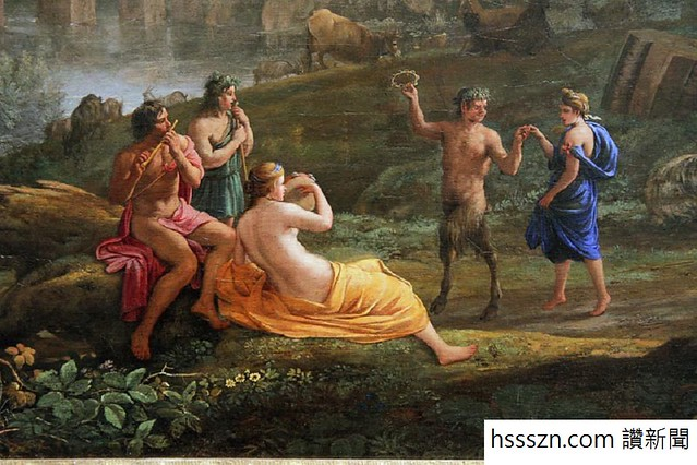 Satyr frolicking with nymphs, Claude Lorrain